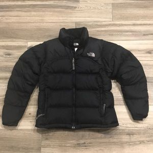 North Face Goose down puffer jacket w/ pocket stow